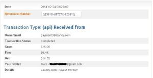 leancy payment prove